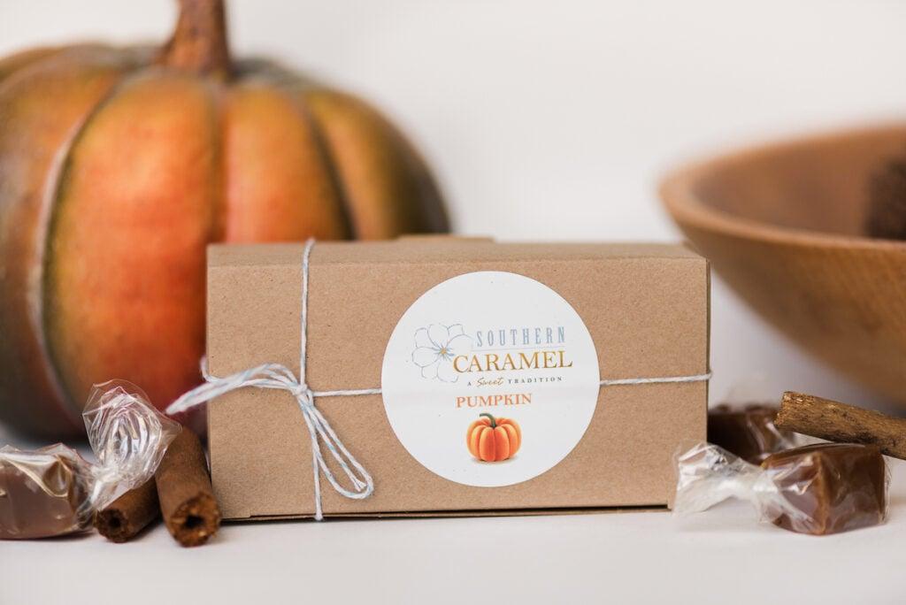 Pumpkin Spice Caramel in a box