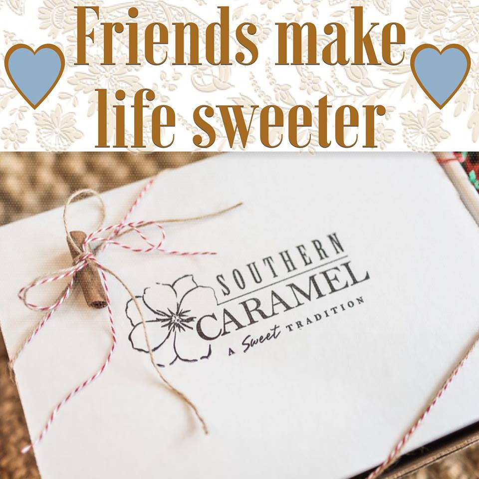 Friends Make Life Sweeter gift card by Southern Caramel